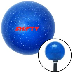 American Shifter 248126 Blue Flame Metal Flake Shift Knob with M16 x 1.5 Insert Red Speed Limit 65