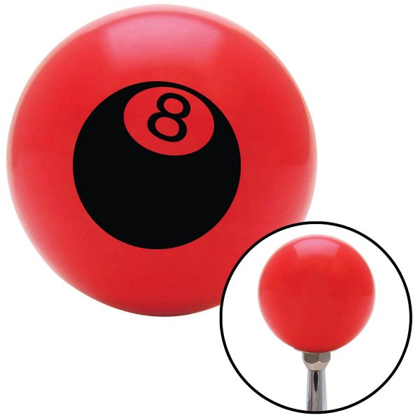 American Shifter 94422 Red Shift Knob with M16 x 1.5 Insert Black 8 Ball 3D Style