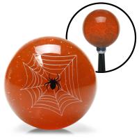 American Shifter 15741 Orange Spider Adjustable Suicide Brody Knob Translucent with Metal Flake