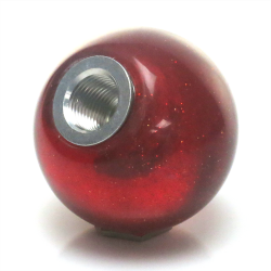 American Shifter 294337 Shift Knob White Real Men Drive Stick Black Flame Metal Flake with M16 x 1.5 Insert